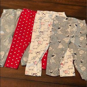 Four EUC pairs of Gap print leggings